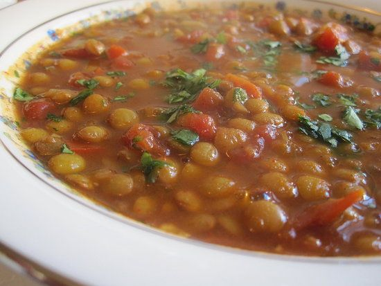 Lentil chili...i made it without the onion (used onion powder instead ...