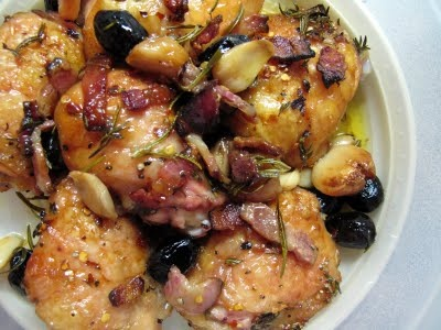 roast chicken with pancetta and olives | Delicious Yumminess | Pinter ...