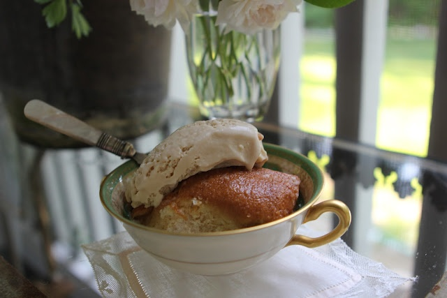 Country Apple Dumplings with Burnt Sugar Bourbon Ice Cream!