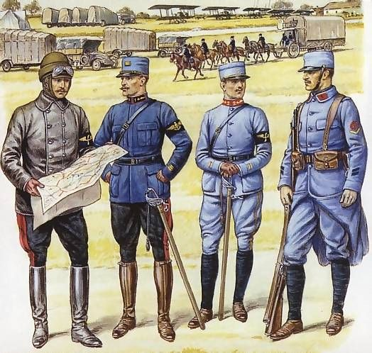 French Army uniforms used during WW1