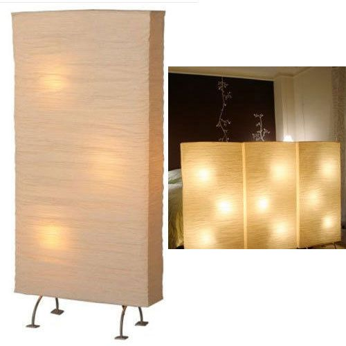 large rice paper floor lamp mood moody light room space divider art b. Black Bedroom Furniture Sets. Home Design Ideas