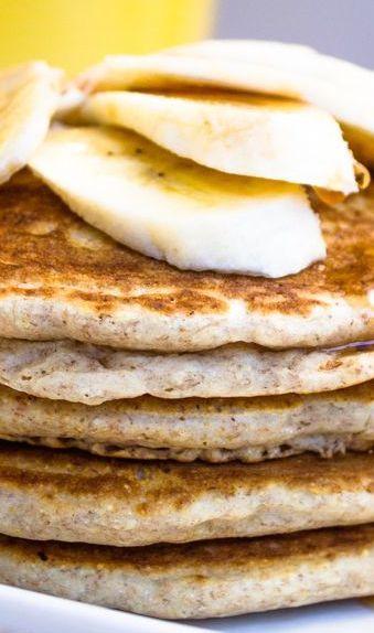 Healthy Low-fat Whole Wheat Banana Pancakes  Recipe