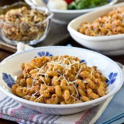 Healthy Roasted Red Pepper Pesto Pasta | Bites: Pasta & Pizza | Pinte ...