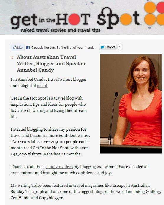 travel writer media blogger annabel candy