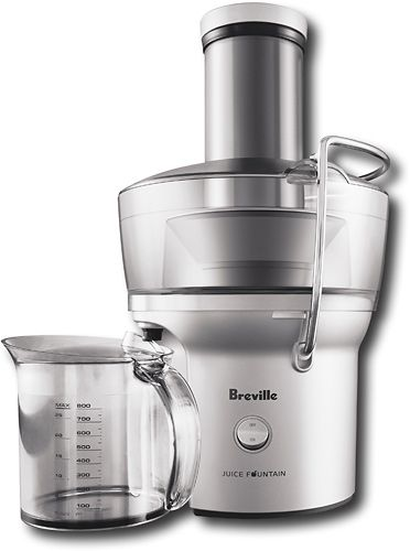 Best Rated Masticating Juicer : Breville - Juice Fountain Compact Electric Juicer - Silver