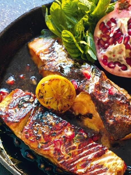 Pomegranate Molasses-Marinated Salmon - healthy summer food