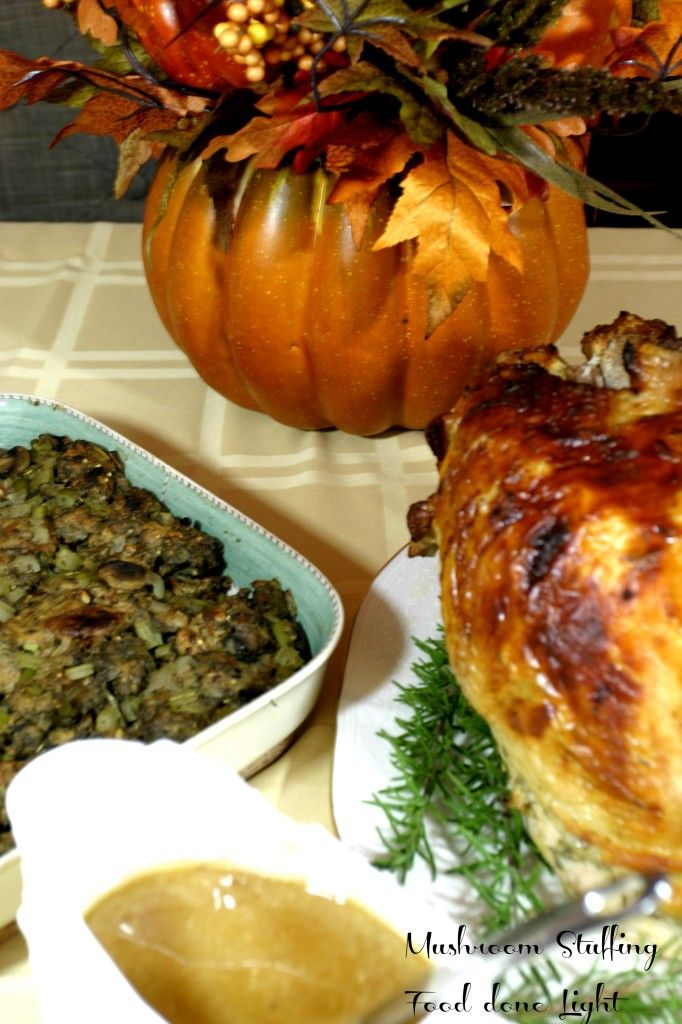 Mushroom Stuffing Food Done Light #stuffing #vegetable think I may add ...