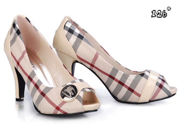 Burberry High Heel Shoes Plaid Inspired Wedding