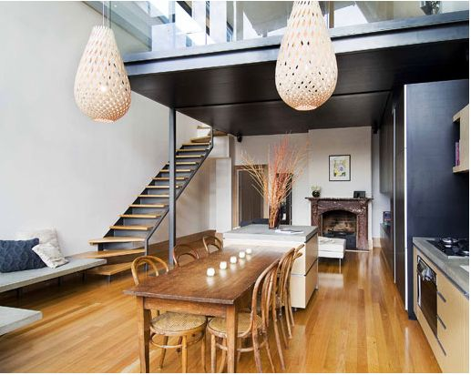 Loft Home Style : Loft style home: Fancy dining space  Houses  Pinterest