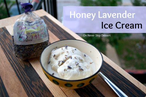 Honey Lavender Ice Cream | Ice Cream/Fro Yo | Pinterest