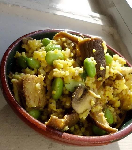 Mushroom Millet Soup With Cheezy Garlic Bread Recipe — Dishmaps