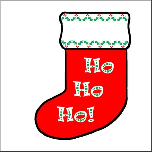 Colorful holiday stocking illustration | abcteach-Clip Art | Pinterest