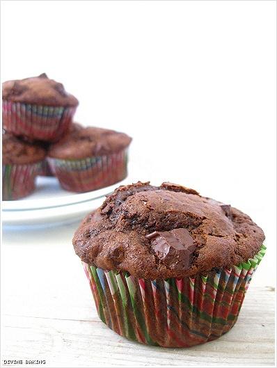 Chocolate-chocolate chunk muffins | Sweet Treats | Pinterest