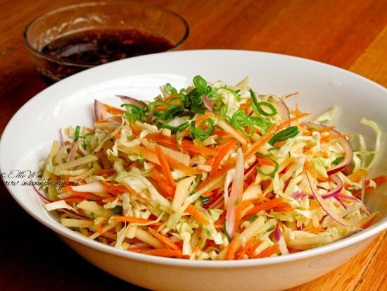 asian inspired vinegar slaw… | vegan SALADnSIDES | Pinterest