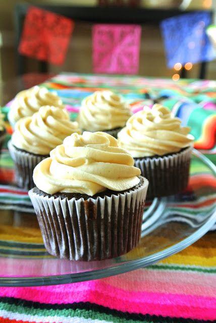 Dulce de Leche filled Chocolate Cupcakes with Fluffy Dulce de Leche Icing – Grea