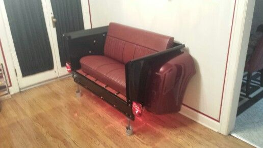 55 ford truck bed couch funky ford art pinterest
