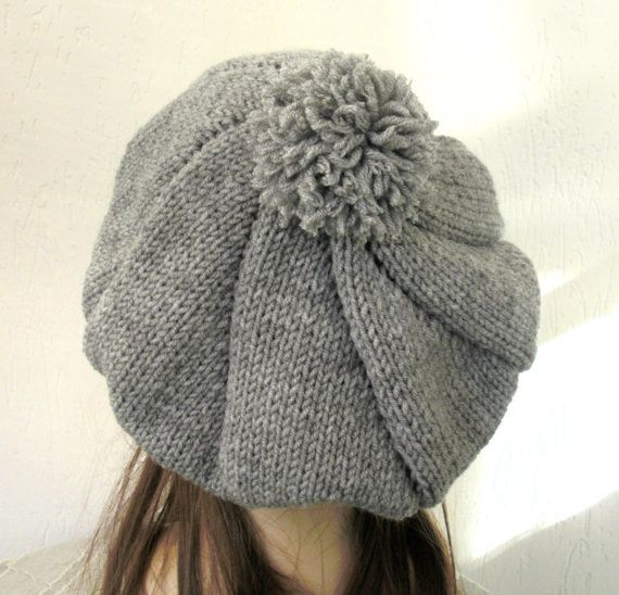Knitting Pattern Hat Beret : Knit Hat Pattern- Digital Hat Knitting PATTERN PDF ...