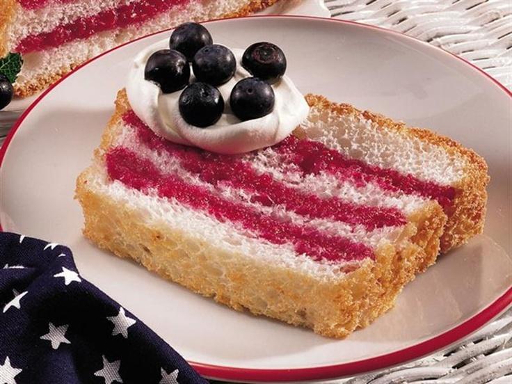 memorial day recipes red white blue | Flag Recipes - Angel Food Cake