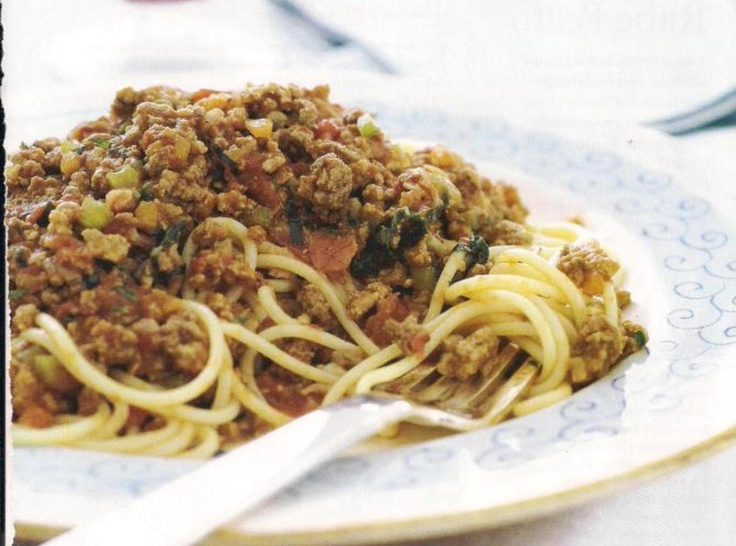 Spaghetti with Bolognese Sauce | Beef | Pinterest