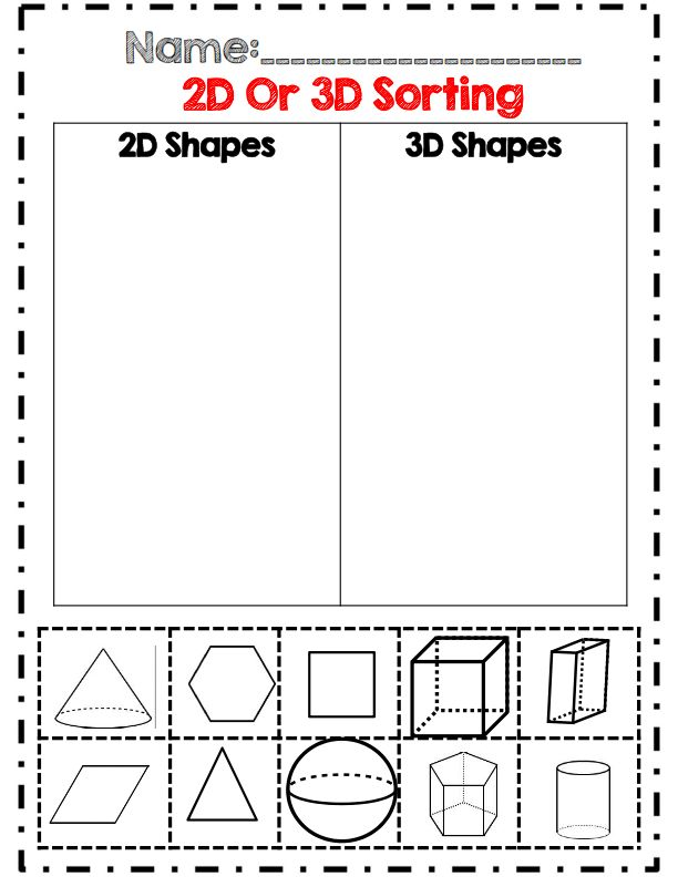 2D and 3D shape sorting part of 40 page geometry unit! common core ...