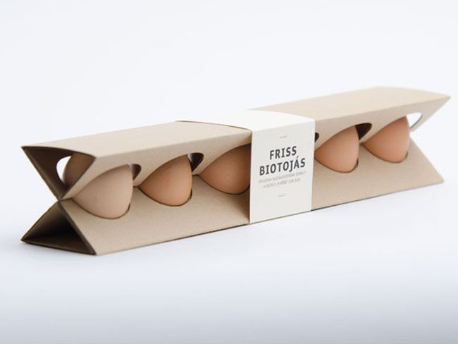 Student work - Designed by Otília Erdélyi, Hungary. Egg Box
