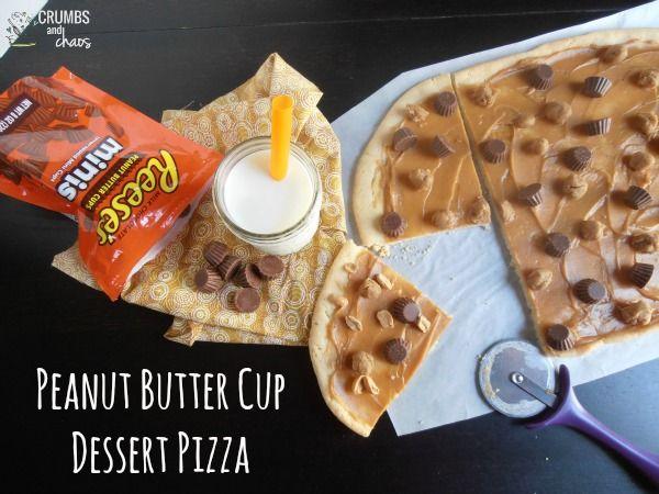 Peanut Butter Cup Dessert Pizza   crumbsandchaos.net   #peanutbutter # ...