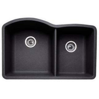 Blanco Sinks Website : Blanco 440179 Diamond Anthracite 1 and 3/4 Bowl Silgranit Undermount ...