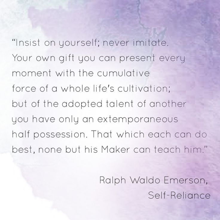 Essay about self reliance by ralph waldo emerson