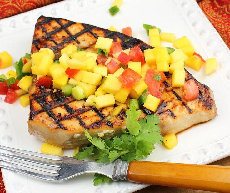 Grilled Swordfish With Cucumber-Melon Salsa Recipes — Dishmaps
