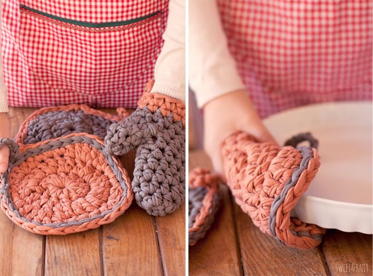 Tutorial Crochet Xxl : Tutorial of mittens Crochet XXL (in 10 minutes)