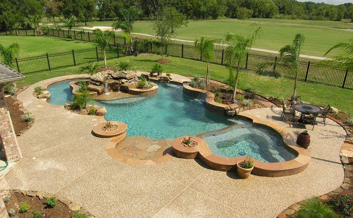 Small Backyard Lazy River Pools : lazy river pool  Backyard Patio Landscaping  Pinterest