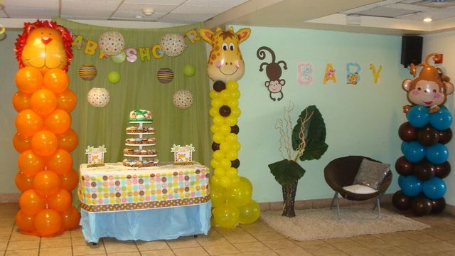 Jungle safari baby shower party ideas for Baby shower safari decoration
