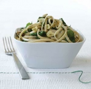 pound whole wheat linguine 1/2 cup extra virgin olive oil 6 cloves ...