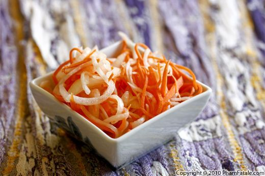 Vietnamese Pickled Carrot and Daikon Recipe (Do Chua) Side Dish for ...