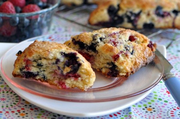 Blueberry Raspberry Scones....if only I had one more stick of butter ...