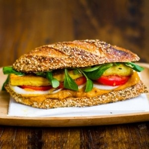 Tofu Sandwich with Golden Spread | Recipes - Sandwiches | Pinterest