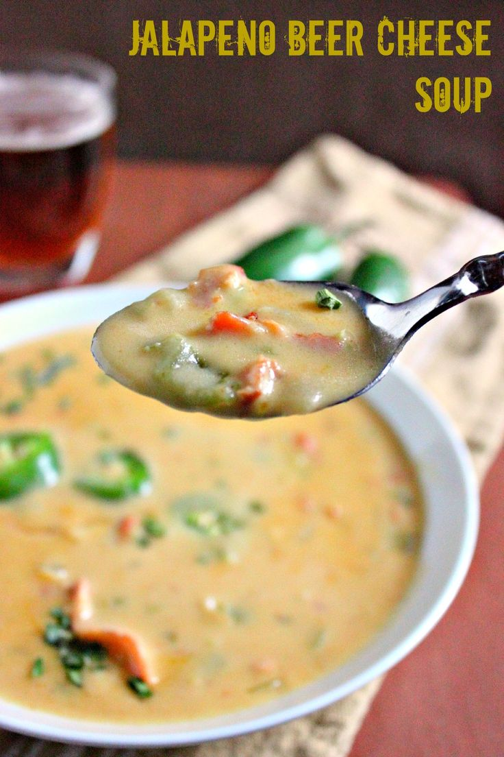Jalapeno Beer Cheese Soup | Recipes | Pinterest