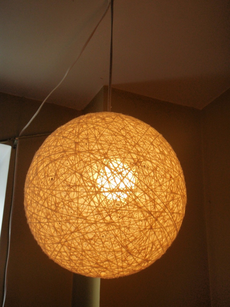 PDF Instructions: DIY Hanging String Light Sphere. Any Size. Any Color