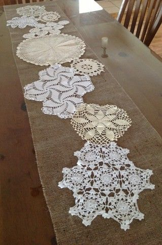 Show Ad - Decor - USA - Michigan - Beautiful Burlap & Doily Wedding Decorations | Weddingbee