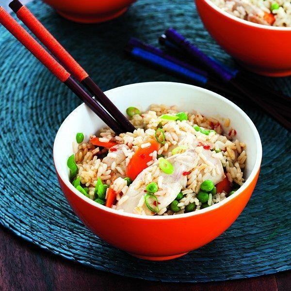 Chicken-rice Bowl // chicken broth or bouillon, hot chili-garlic sauce ...