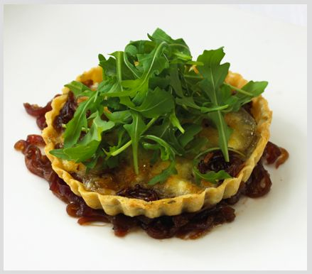 ... creamy texture and taste is just lovely. Goats cheese tarts with