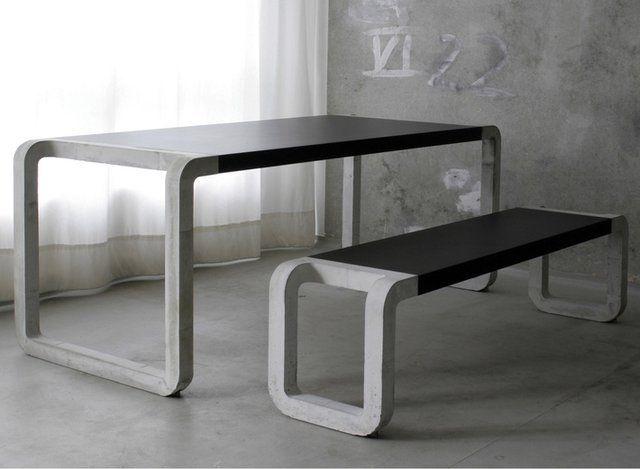 Concrete Bench Table By Metrofarm Concrete Pinterest