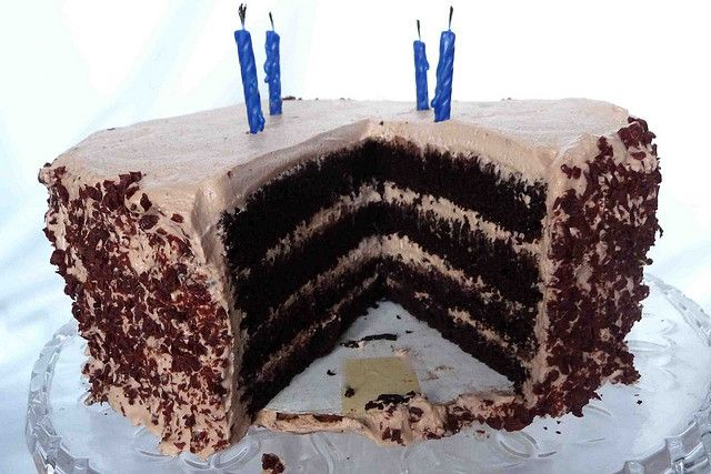 Chocolate Mousse-Filled Chocolate Layer Cake by CookinCanuck, via ...