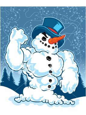 Muscular Snowman   May All Your Holidays Be Merry & Muscular   Pinter ...