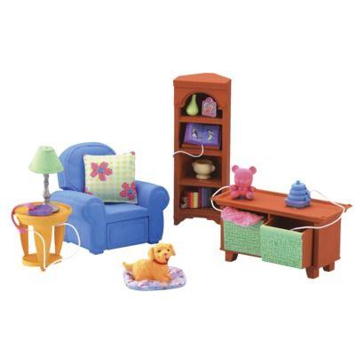 Pin fisher price loving family dollhouse living room furniture set on pinterest for Fisher price loving family living room