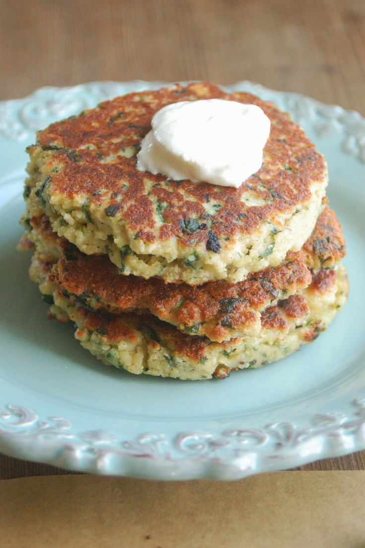 Spinach and Onion Cakes ~~~~ for DF use 1 cup coconut cream with 2 ts ...