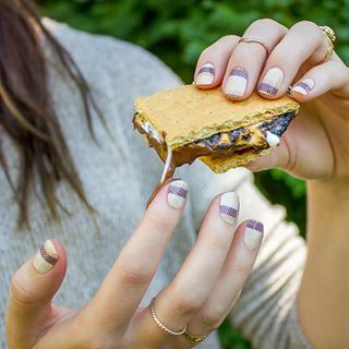 "Jamberry Nails-nail wraps. ""Gimme S'more."" This is our August 2..."