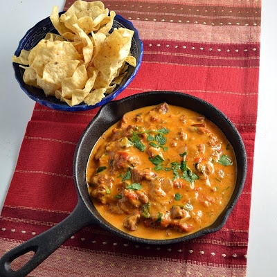 The Foodie Couple: Tequila Infused Queso Fundido with Chorizo
