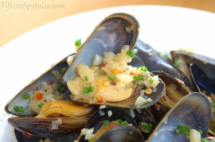 White Wine Mussels with Piquillo Rouille Slathered Bread | Recipe