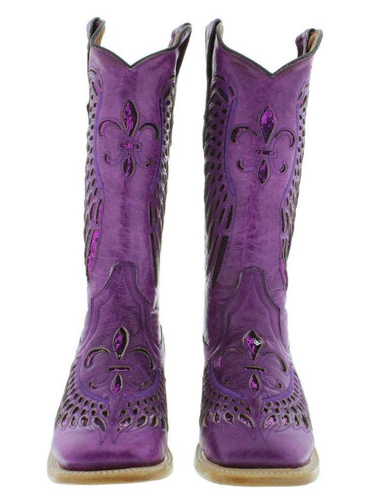 Model Women Western Boots With Purple  Women39S Cowboy Boots Ladies Purple